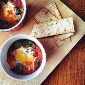 Baked Spanish Eggs