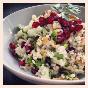 Pomegranate, Walnut and Bulgur Wheat Salad