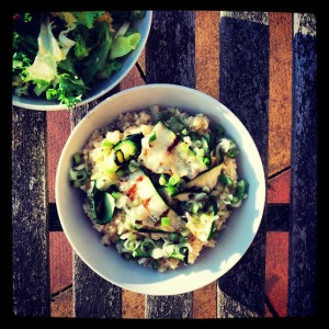 [BBQ Recipe] Barbequed Courgette and Bulgur Wheat Salad