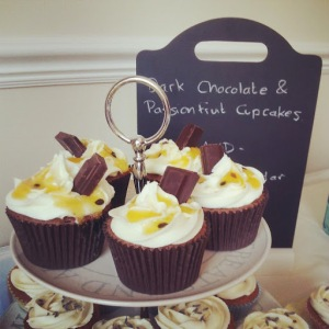 Dark Chocolate and Passion Fruit Cupcakes (Plus GBBO S4 Ep1)