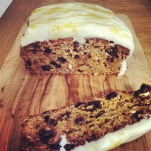 A light slice of skinny carrot cake
