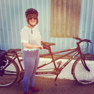 Tandem bike ride along the Camel Trail, Padstow