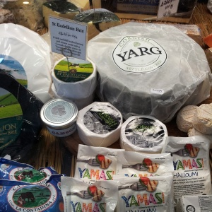 Locally produced cheese at Rick Stein's Deli
