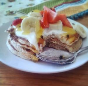 Summer Fruit Pancakes