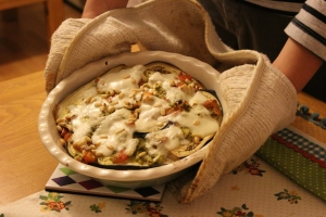 Aubergine and Pesto Bake (2)