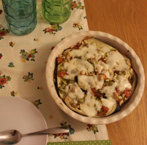 Aubergine and Pesto Bake (4)