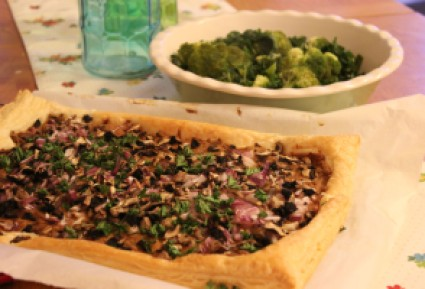 Mushroom and Walnut Tart (3)