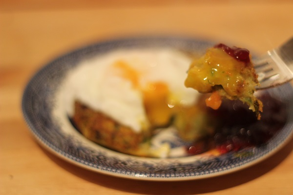 Take a bit of bubble and squeak with runny egg